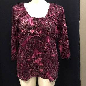 Axcess by Liz Claiborne size Lg 3/4 sleeve top